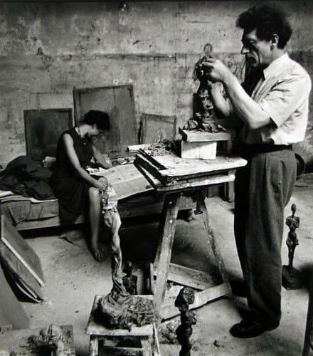Alexander Liberman, Alberto & Annette Giacometti, ca. 1950.