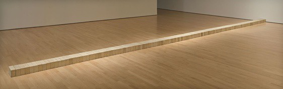Carl Andre, Lever, 1966. Primary structures
