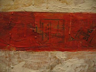 Jasper Johns, Flag, 1954. Detail showing the texture of enchaustic painting.