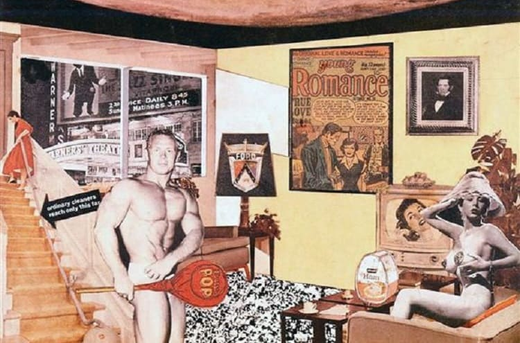 """Richard Hamilton, Just what is it that makes today's homes so different, so appealing?.  """"This is tomorrow"""""""