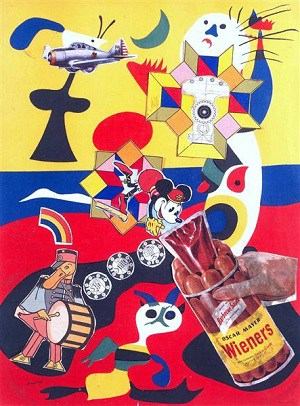 "Eduardo Paolozzi, Sack-o-sauce, 1948 © The estate of Eduardo Paolozzi, Fair Use. ""This is Tomorrow"""