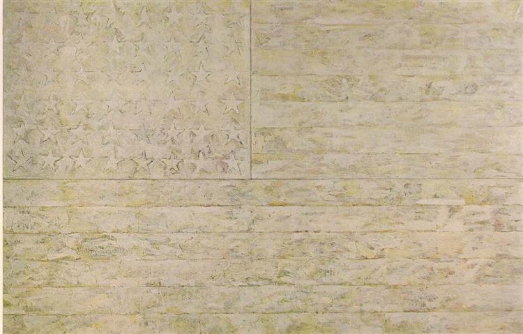 Jasper Johns, White Flag, 1955 © Jasper Johns