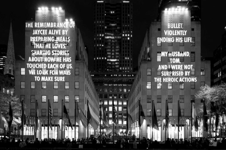 Jenny Holzer, Projections, New York City, 2019.