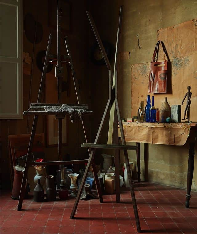 Inside Giorgio Morandi's Bologna apartment and studio with pieces from the Paolo Castelli collection. Photo: Courtesy of Artemest. Gift