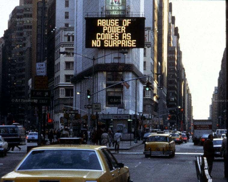Jenny Holzer, Truisms, Colab's The Times Square Show, 1982.
