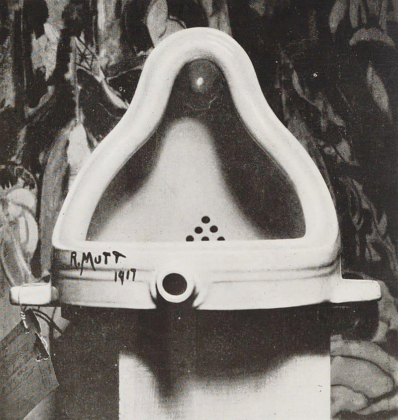 Marcel Duchamp, Fountain, 1917, photograph by Alfred Stieglitz.