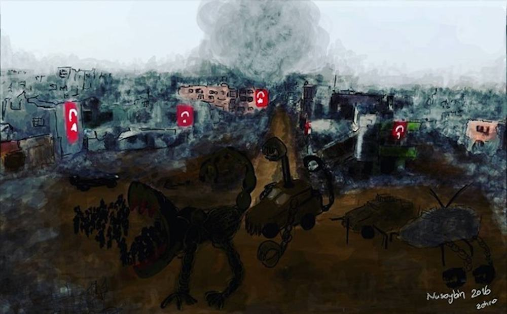 Work by Zehra Doğan. Courtesy the Voice Project. Art Censorship.