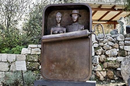 Public sculpture in Ein Hod, Israel. Artist colonies