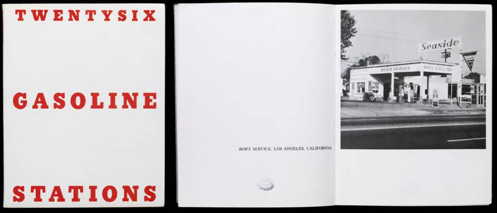 Ed Ruscha, Twentysix gasoline stations, first published 1963 in Los Angeles © Victoria and Albert Museum, London