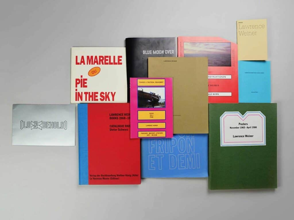 Artists' books of Lawrence Weiner from the Sachner Archive.