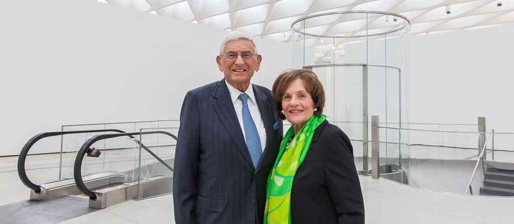 Art collectors Eli and Edythe Broad. Courtesy of the Broad Foundation. Art Collections