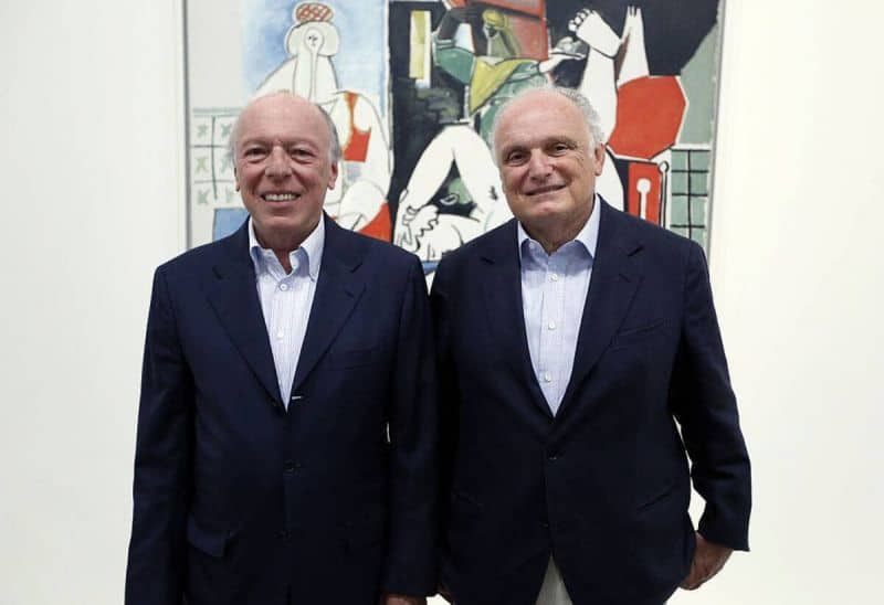 Art collectors Ezra Nahmad, on the left, with his brother David. Photo Valery Hache. Art Collections