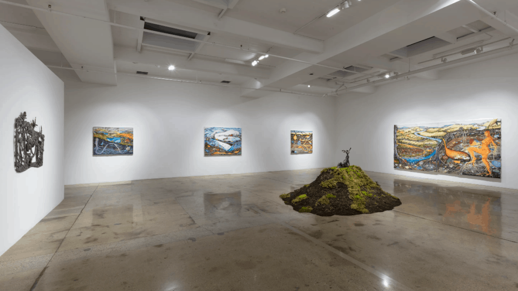 Installation view of Grown Woman, a solo exhibition by Milwaukee-based Kate Klingbeil at Steve Turner, Los Angeles (9 Jan – 6 Feb 2021)