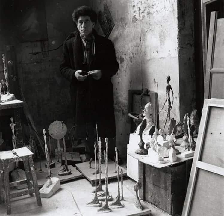 Alberto Giacometti in his studio in 1951. Photo courtesy Alberto Giacometti Estate, ACS/DACS, 2017