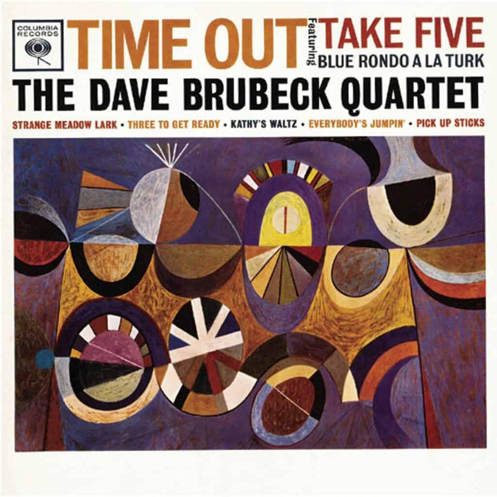 S Neil Fujita's album art for The Dave Brubeck Quartet: Time Out (1959). Courtesy of Columbia Records.