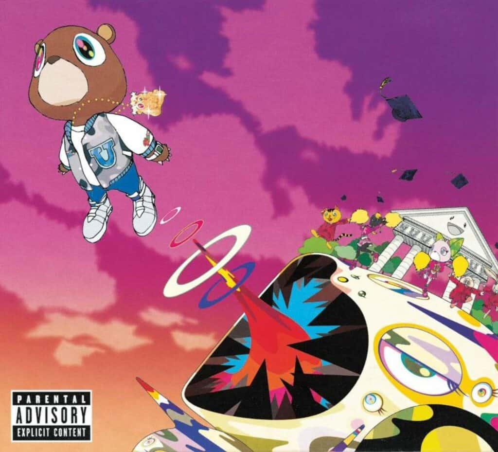 Kanye West: Graduation (2007) cover. Album art by Takashi Murakami. Courtesy of Roc-A-Fella Records