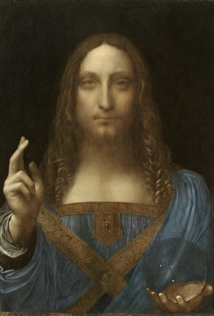 Leonardo da Vinci, Salvator Mundi, c. 1500. Art Auctions