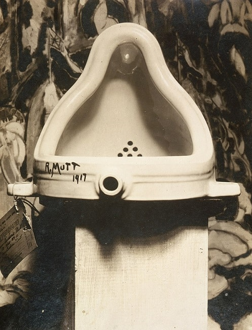 Marcel Duchamp, Fountain, 1917. Photograph by Alfred Stieglitz.