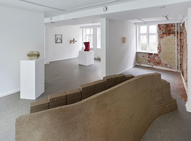 Installation view of MAN-MAID-NATURE at Pop-Up Contemporary, Copenhagen.