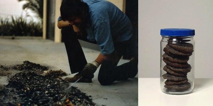 John Baldessari, The Cremation Project, 1970.  artists destroyed