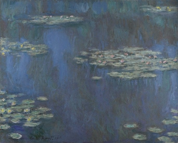 Claude Monet, Nymphaes, 1905.  artists destroyed