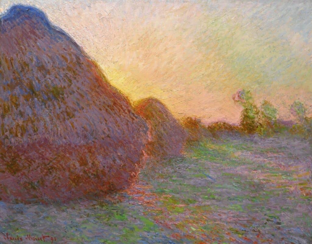 Claude Monet, Meules, 1890. Image via Sotheby's. Art auctions