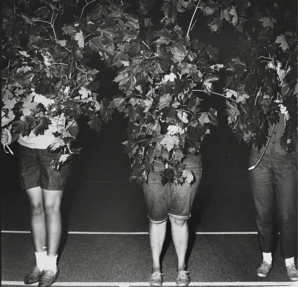 Diane Arbus, Camp Lakecrest Campers As Trees. Dutchess County, NY. 1968. Gelatin silver print, edition of 75.