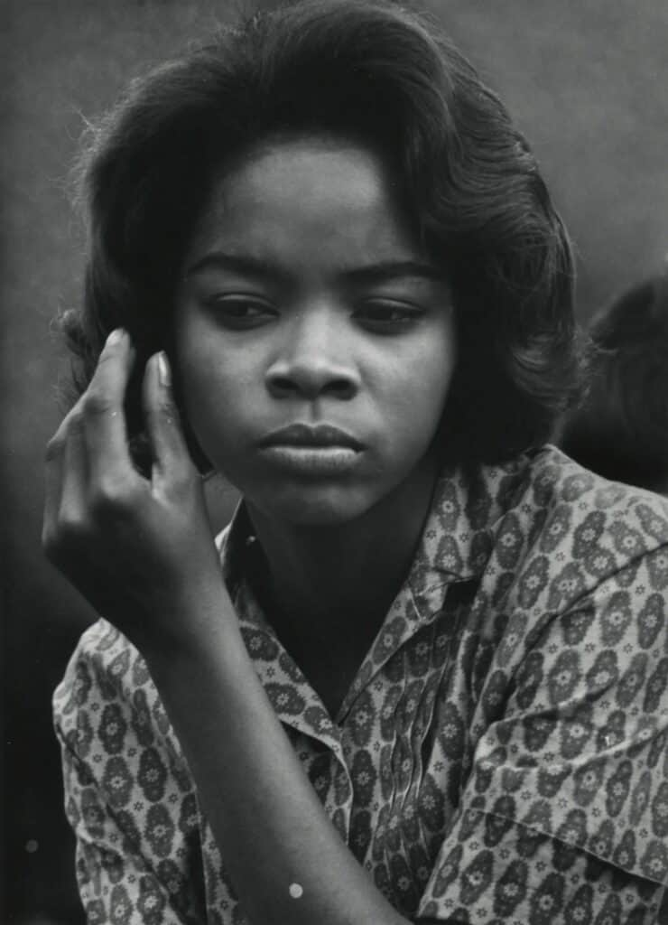 """Dave Heath, Washington Square. New York City, 1960. Gelatin silver print. Unique work of one of America""""s most well-known street photographers."""