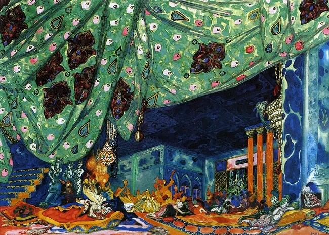 Set design for Sheherazade (1910) by Léon Bakst