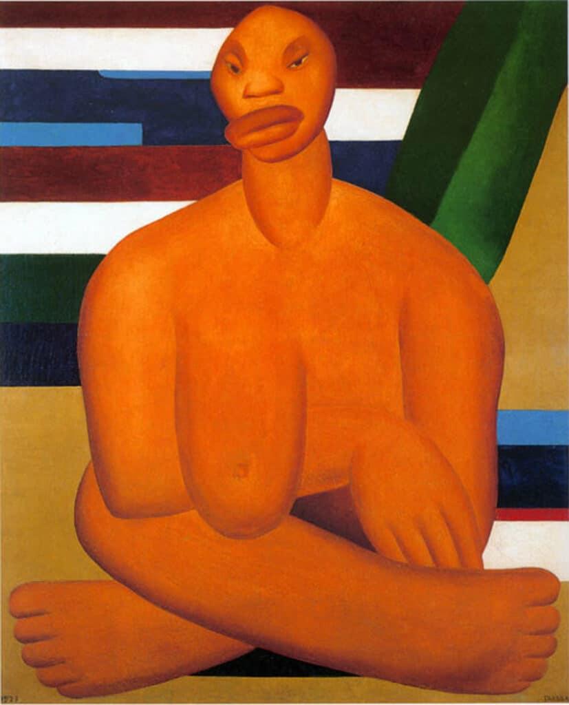 Tarsila do Amaral A Negra 1923. Museo de Arte Contemporânea de Universidade de São Paulo. Latin American Art