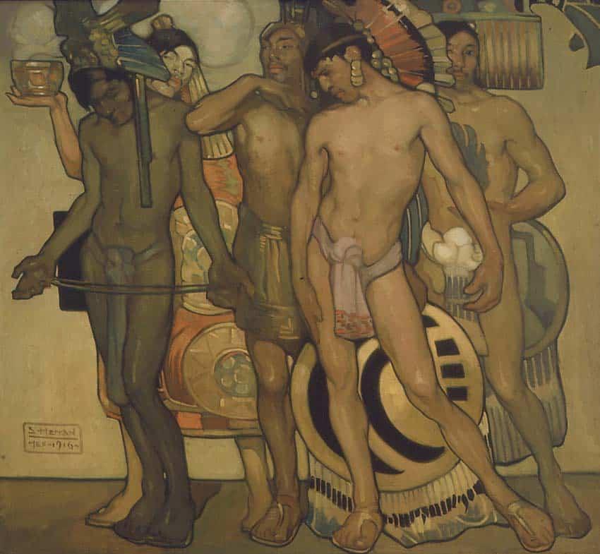Saturnino Herrán Nuestros Dioses Antiguos (Our Ancient Gods) 1916. Colección Blastien. Latin American Art