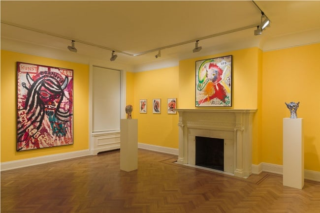 """Exhibition view of ACROSS THE UNIVERSE (DR. SPACE-ANIMALISM """"E.A.G.L.E."""": FLY LIKE AN EAGLE) at David Nolan Gallery.  Courtesy of David Nolan Gallery and the artist."""