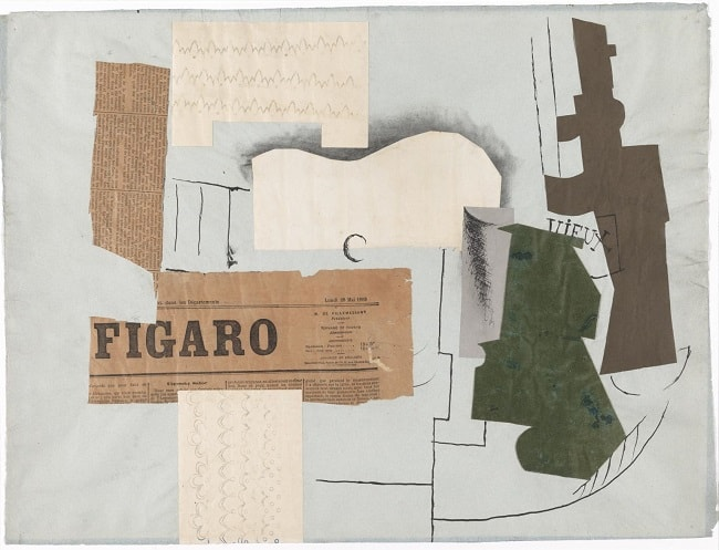 Pablo Picasso: Bottle of Vieux Marc, Glass, Guitar and Newspaper
