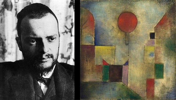 Paul Klee, left; Red Balloon, 1922, right.