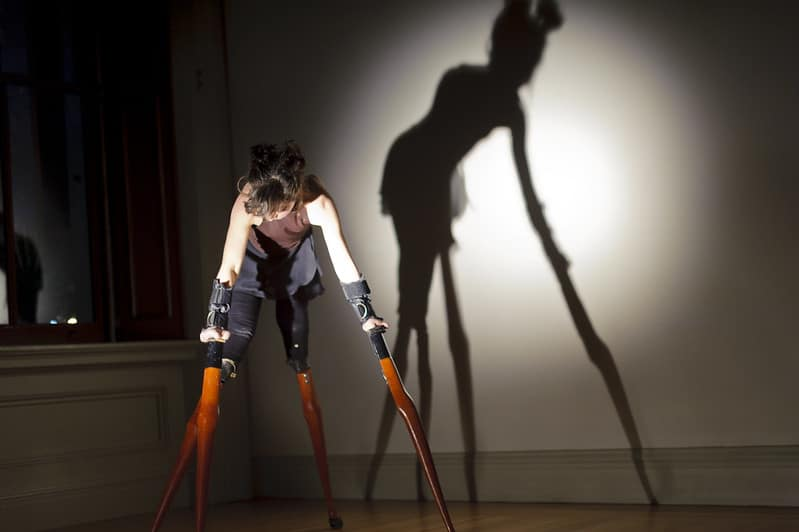 Lisa Bufano performing at All Worlds Fair 2013. Access for disabled artists