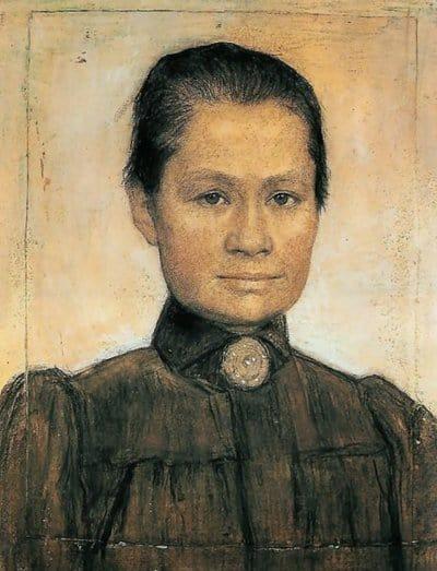 Jo van Gogh-Bonger, painting by her second husband Johan Cohen Gosschalk, 1905