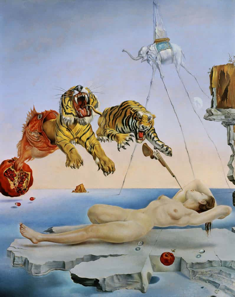 Salvador Dali, Dream Caused by the Flight of a Bee Around a Pomegranate a Second Before Awakening, 1944. Dreams