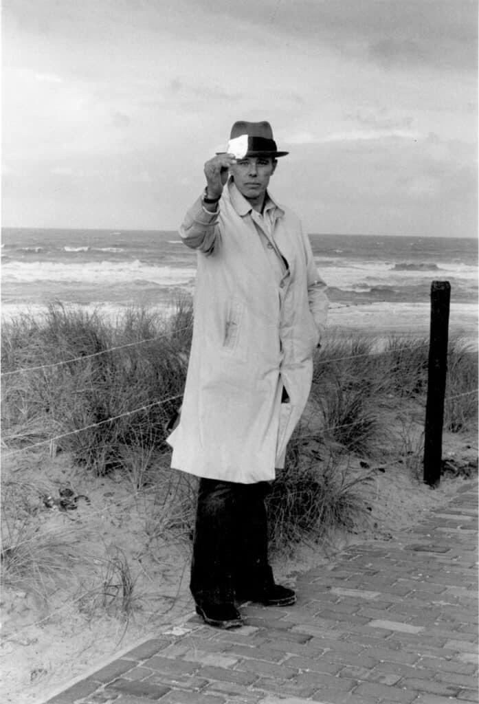 Joseph Beuys in Scheveningen in 1976. Photograph: Caroline Tisdall. Courtesy of Beuys2021.