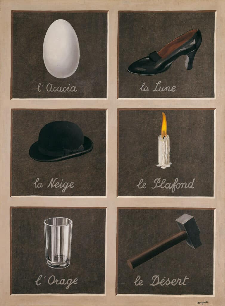 René Magritte, The Key to Dreams, 1930. Dreams