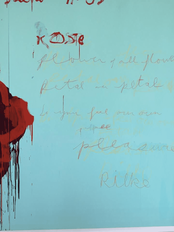 Cy Twombly, Detail from The Rose 2008. © Cy Twombly.  Literature