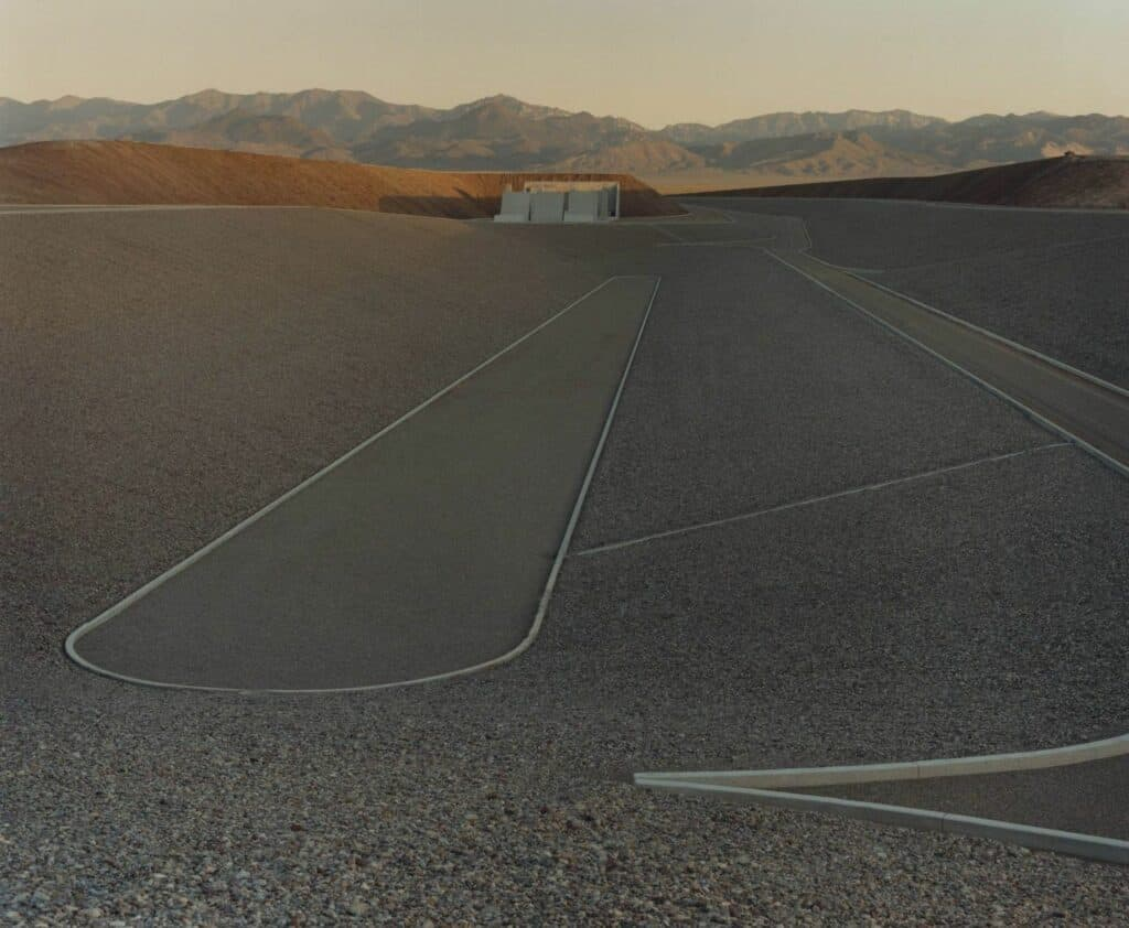 Michael Heizer, City, 1970-ongoing. Image © Jamie Hawkesworth for the New Yorker. Remote art installations.