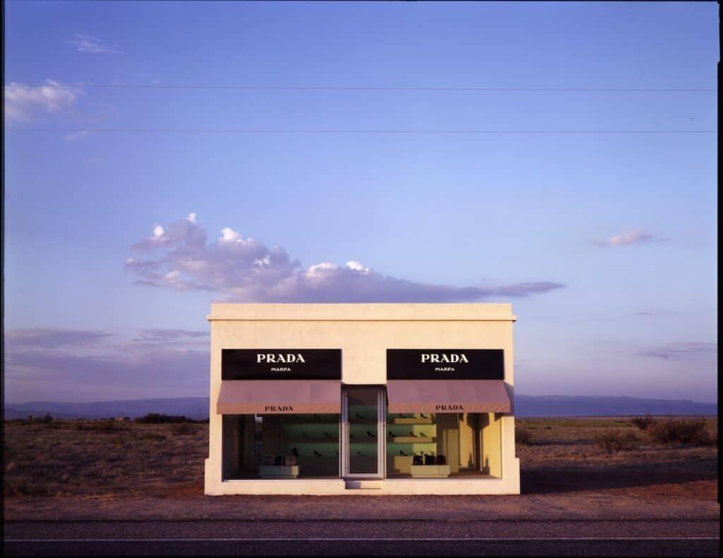 Elmgreen & Dragset, Prada Marfa, 2005. Image by James Evans, remote art installations.
