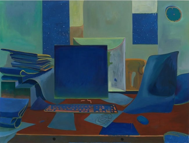 Zhai Liang, Silence Is Mystery, 2020. Oil on canvas, 135 × 180 cm, © the artist, courtesy A Thousand Plateaus Art Space