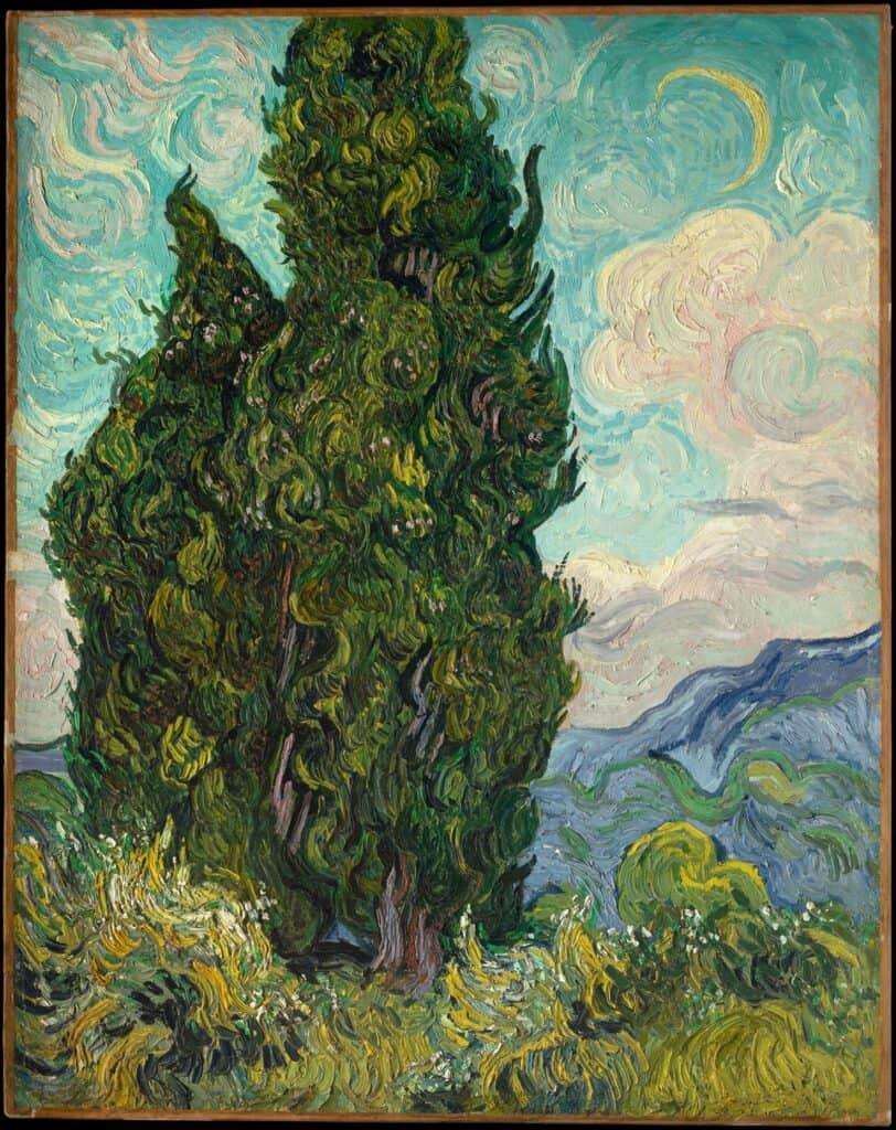 Vincent van Gogh, Cypresses, 1889. Jo van Gogh-Bonger