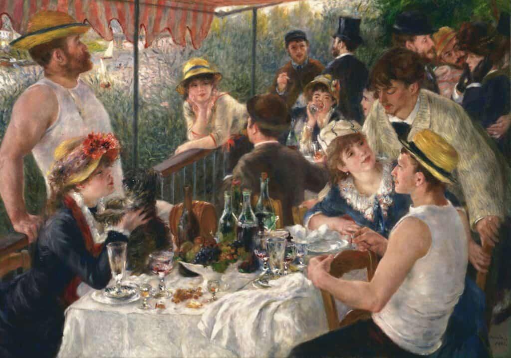 Pierre-Auguste Renoir, Le déjeuner des canotiers, 1882. Oil on canvas. The Phillips Collection, Washington, DC.