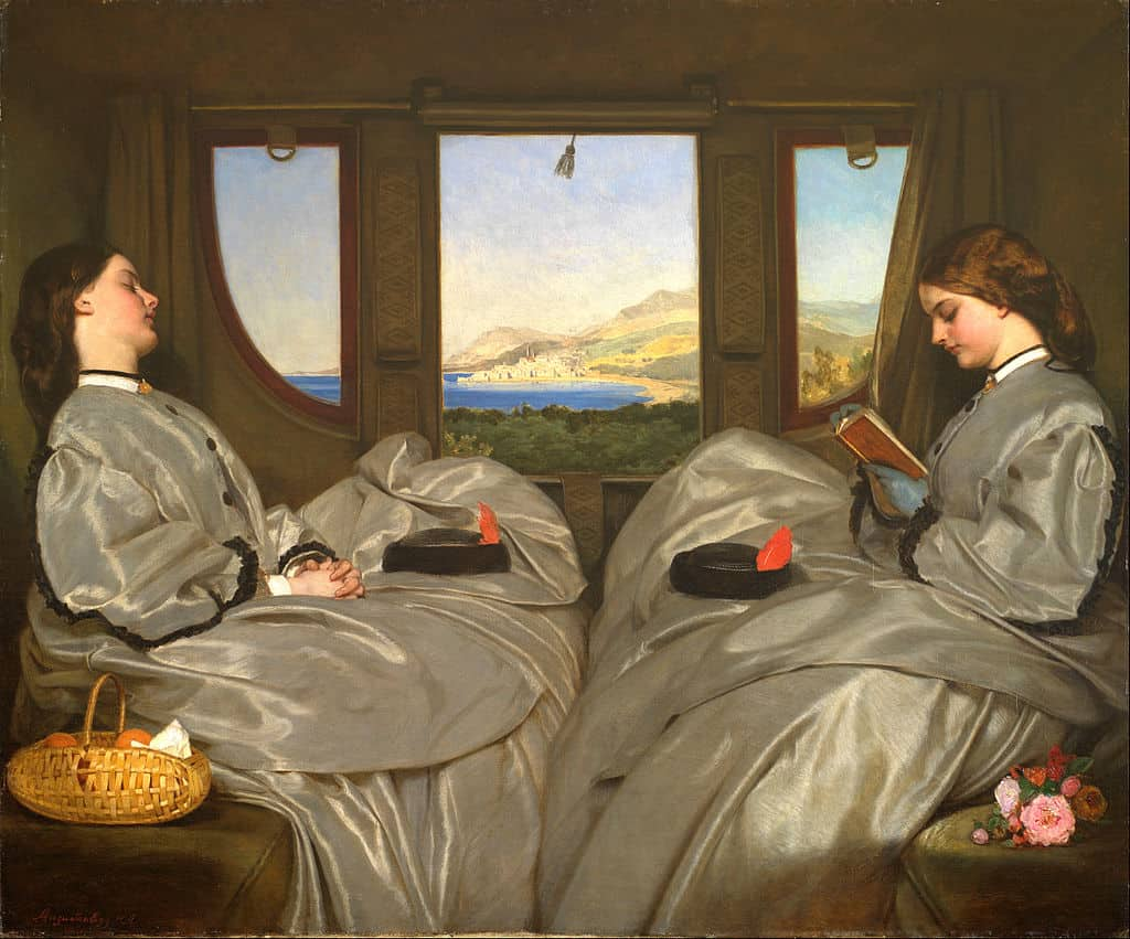Augustus Leopold Egg, The Travelling Companions, 1862. Oil on canvas. Courtesy Birmingham Museum and Art Gallery. French summer.