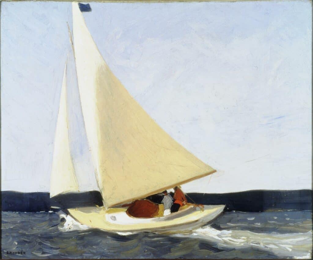 Edward Hopper, Sailing, 1911. US public domain.