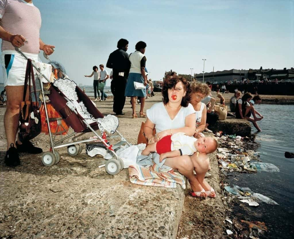 Martin Parr, The Last Resort series, 1983. Celebrating summer.