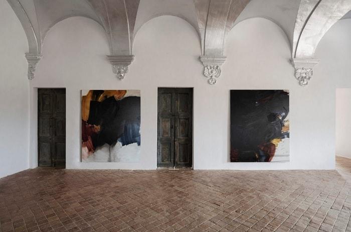 Intstallation view of Richard Zinon's exhibition at Palau de Casavells, Alzueta Gallery