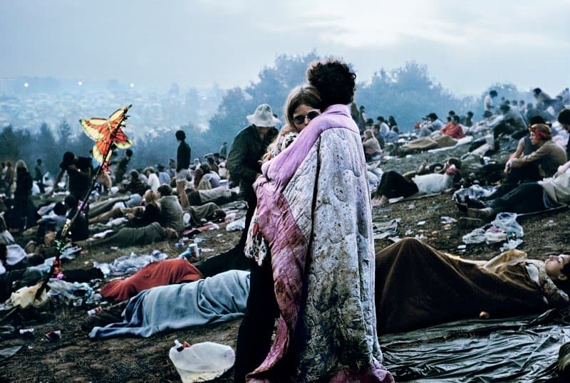 Nick and Bobbi Ercoline, the couple on the cover of Atlantic Records' original 1970 Woodstock: Music from the Original Soundtrack and More © Burk Uzzle at music festivals